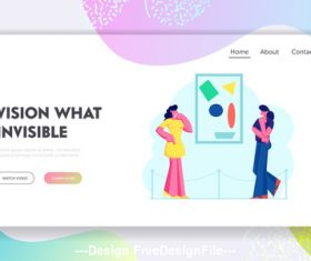 Vision what invisible plane banner vector