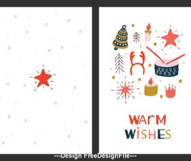 Warm wishes card vector