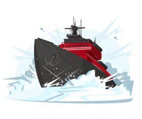 Warship Conceptual Illustrations vector