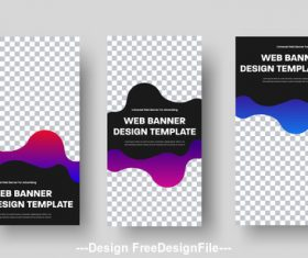 Web banner design template vector