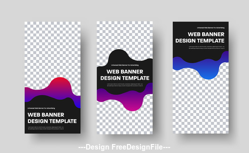 Web banner design template vector