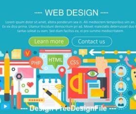 Web design flat design concept vector