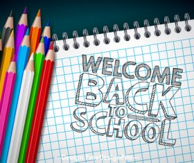 Welcome Back to school design vector