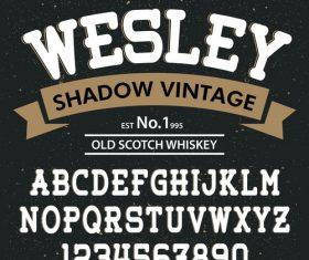 Wesley Style script font vector