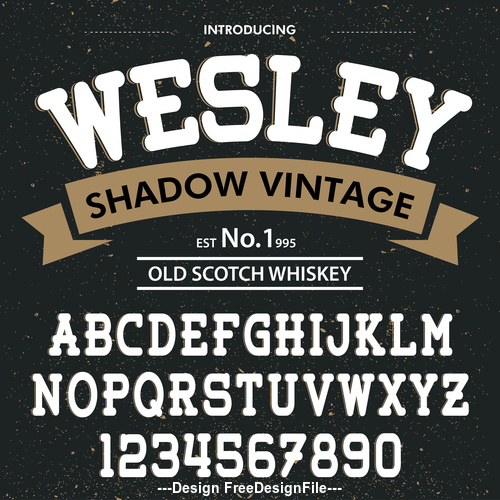 Wesley Style script font vector