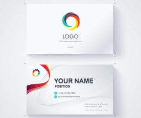 White business card template vector