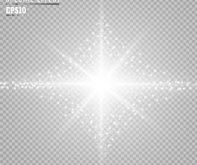 White glow light effect vector