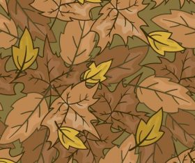 Withered yellow leaves background seamless pattern vector