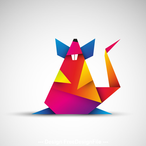 year of the rat 2020 origami rat vector free download year of the rat 2020 origami rat vector
