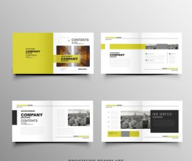 Yellow and black background design brochure vector