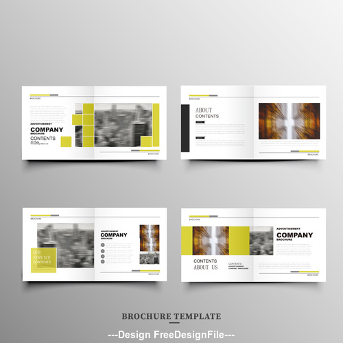 Yellow barcode brochure design vector