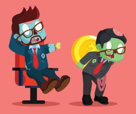 Zombie businessman vector