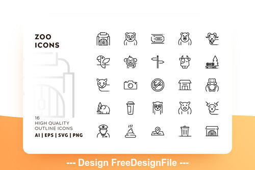 Zoo icon outline vector