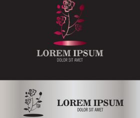 beauty rose logo vector