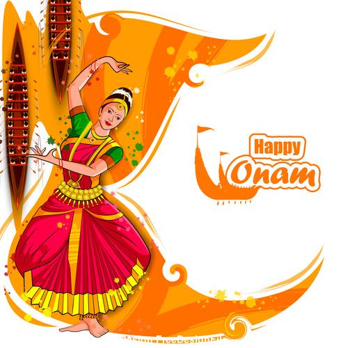 celebration onam Indian dance vector