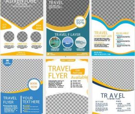collection travel flyer template vector