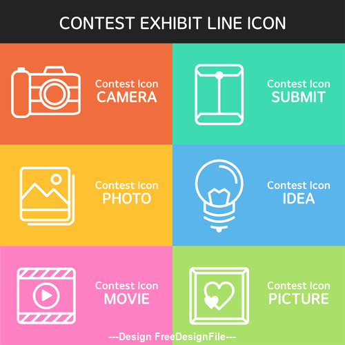 contest exhibit icon vector