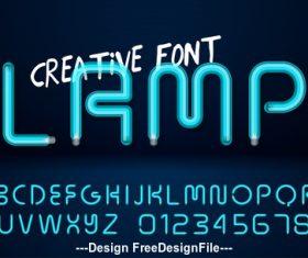 creative font vector