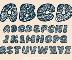 diaper teill font vector
