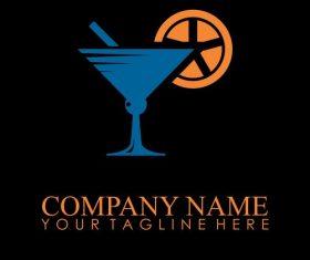 drink glass logo vector