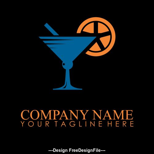 drink glass logo vector