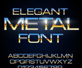 elegant metal font vector