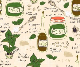 elements pesto recipe fabric and tea towel