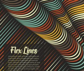 flex lines backgrounds vector 01