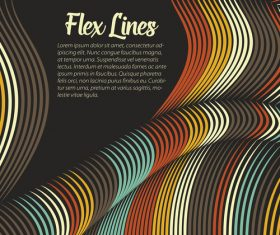 flex lines backgrounds vector 04