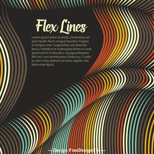flex lines backgrounds vector 04