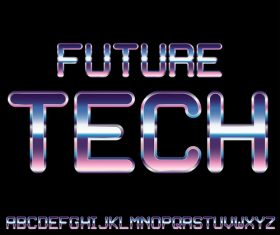 future tech font vector