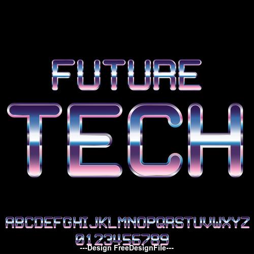 future tech font vector