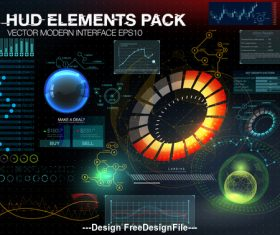 hud elements pack backgrounds vector 02