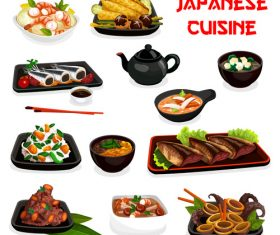japan cuisine vector