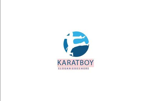 karate logo vector