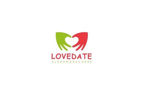 love date logo vector