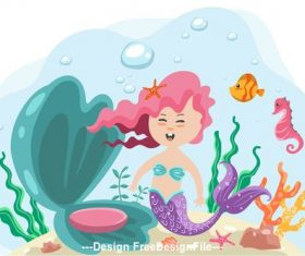 mermaid Vector Cartoon