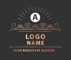 monograms and logos in vector