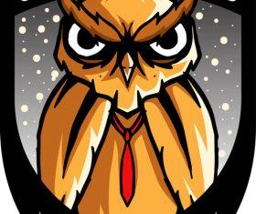 orange owls mascot esports logo vector