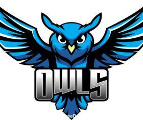 owls mascot esports logo vector