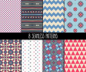 pink and blue patterns vector