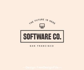 software technology modern logo vector
