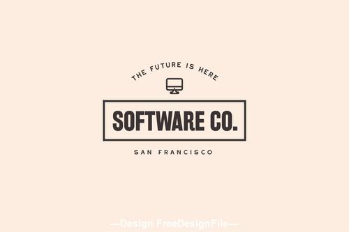 software technology modern logo vector
