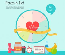 start diet Illustration vector