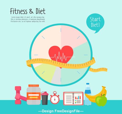start diet Illustration vector