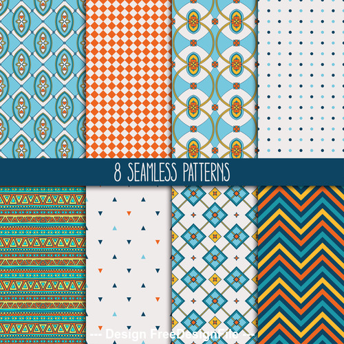 yellow and blue patterns vector