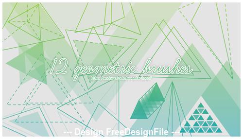 12 Kind Geometric PS Brushes