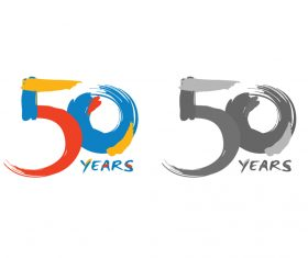 Historical Logo 50 Years Stock Graphic