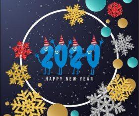 2020 christmas greeting card vector