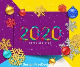 2020 decorative christmas greeting card vector